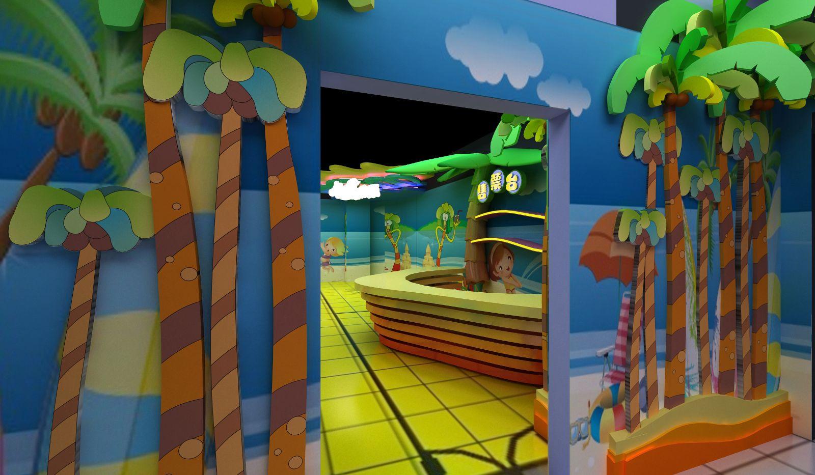 室内儿童乐园森林风格设计案例