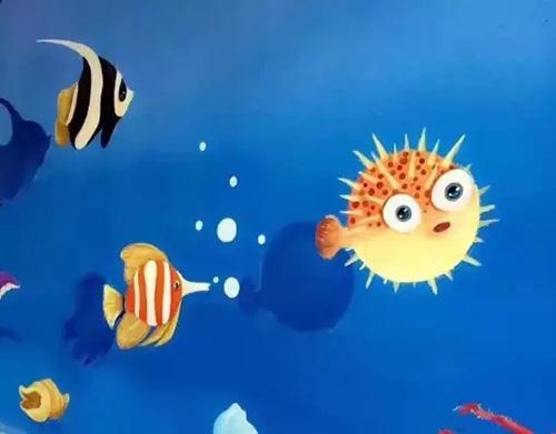 欢乐逗趣的海绵宝宝,瞪眼也可爱的妖娆章鱼.