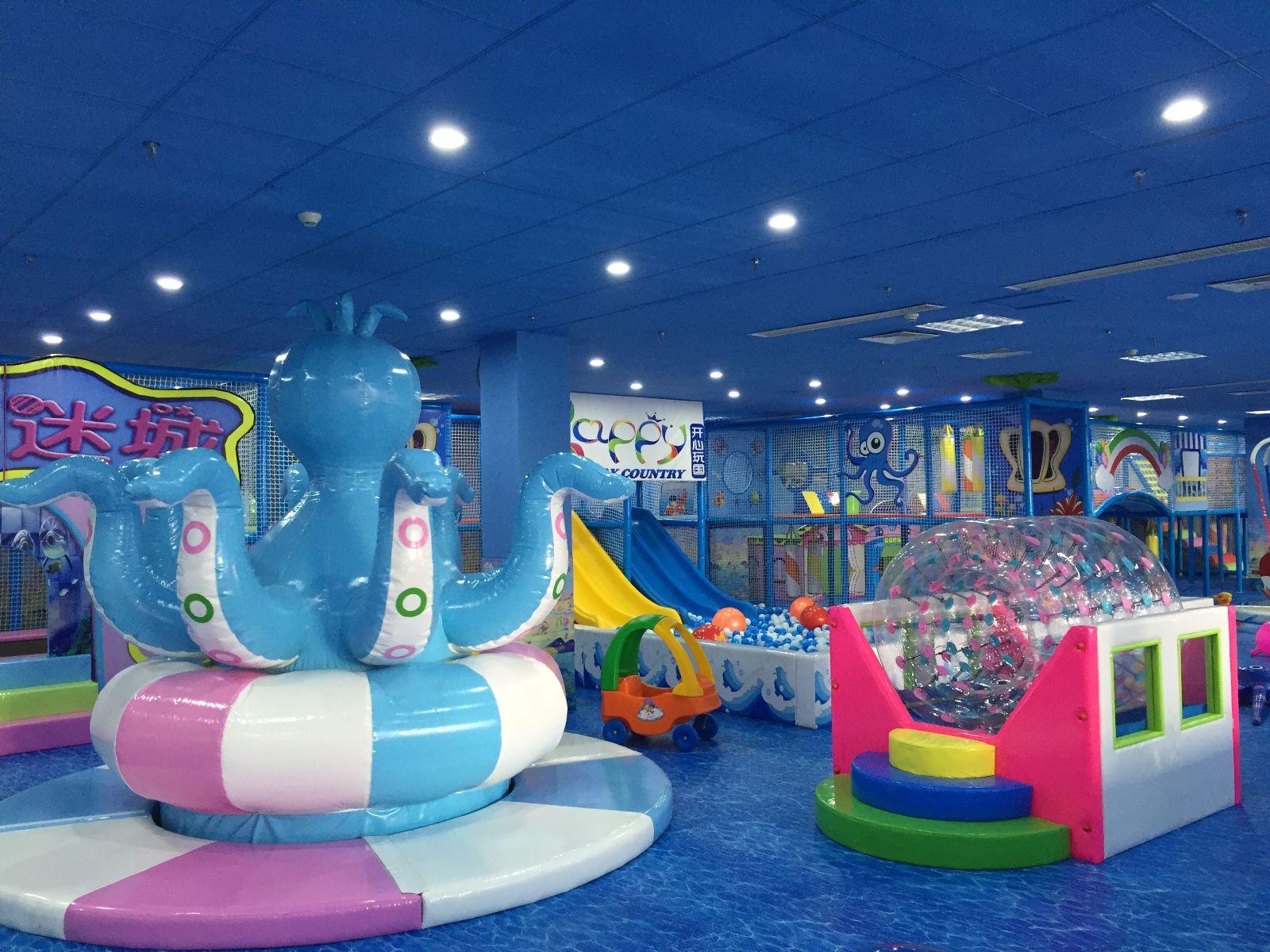 热烈祝贺开心玩国儿童未来主题乐园山东烟台店于圣诞节隆重开业!